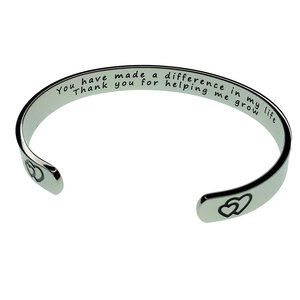 Thank you for helping me grow cuff bracelet gift